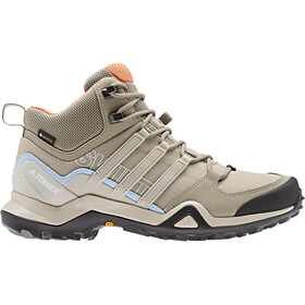 adidas TERREX Swift R2 Mid GTX Chaussures Femme, trace khaki/collegiate brown/glossy blue